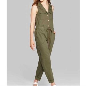 Wild Fable Olive Utility Jumpsuit